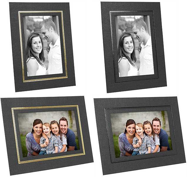Cardboard Picture Frames 4x6 w/Foil Border (25 Pack)
