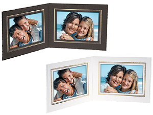 Double View Folder w/Foil Border 6x4 Horizontal (25 Pack)