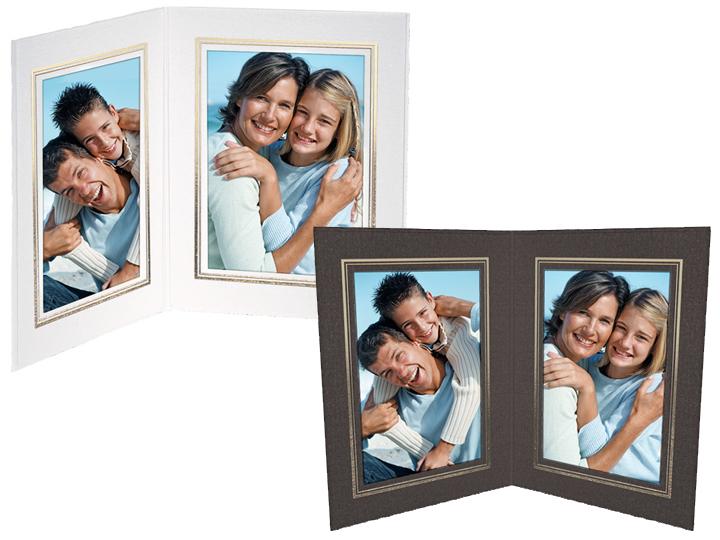Double View Folder w/Foil Border 5x7 Vertical (25 Pack)