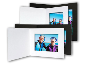 4 X 6 Cardboard Photo Folders Black Or White 25 Pack