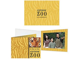 Custom Printed Full Color Event Photo Folders - Single View Deluxe