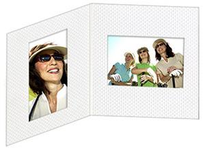 Golf Ball Texture Dual View 4x6 & 6x4 Photo Folders (25 Pack)