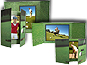 Golf Gatefold Event Photo Folders For 4x6 (25 Pack)
