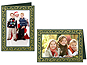 Green Holly Border 4x6 Photo Insert Greeting Cards (10 Pack)