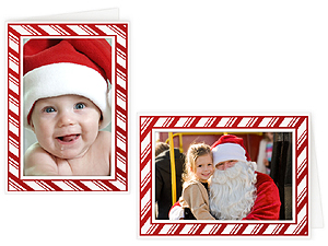 Candy Cane 4x6 Photo Insert Greeting Cards (10 Pack)