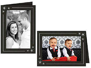 Stars Photo Insert Greeting Cards for 4x6 (10 Pack)