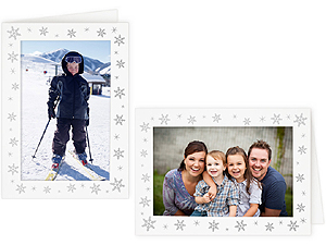 Snowflakes 4x6 Photo Insert Greeting Cards (10 Pack)