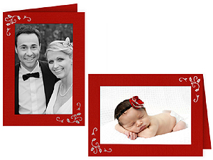 Holly Corners Photo Insert Greeting Cards for 4x6 (10 Pack)