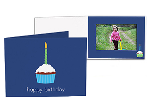 Birthday Cupcake 5x7 Horizontal Photo Folders (25 Pack)