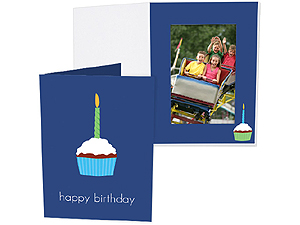Birthday Cupcake 4x6 Vertical Photo Folders (25 Pack)