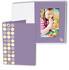 Easter Dots 5x7 Vertical Photo Folders (25 Pack)