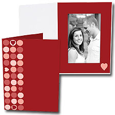 Heart Dots 5x7 Vertical Photo Folders (25 Pack)