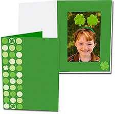 Lucky Clover 5x7 Vertical Photo Folders (25 Pack)