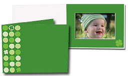 Lucky Clover 5x7 Horizontal Photo Folders (25 Pack)