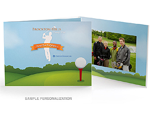 Golf Course Illustration Photo Folders For Horizontal 4x6 (25 Pack)