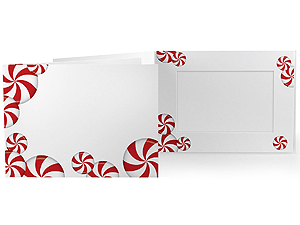 Peppermint Candy 7x5 Horizontal Photo Folders (25 Pack)