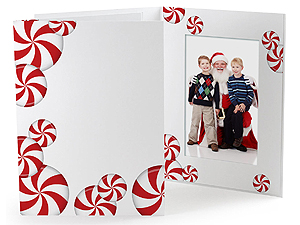 Peppermint Candy 4x6 Vertical Photo Folders (25 Pack)