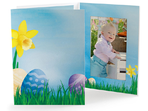 Easter Garden 4x6 Vertical Photo Folders (25 Pack)