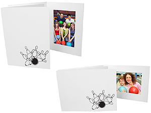 Bowling 4x6 Sports Event Photo Folders (25 Pack)