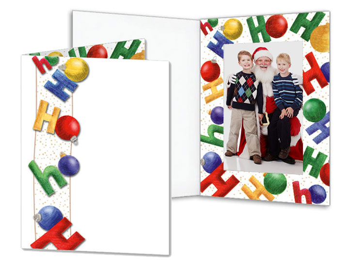 Hohoho 4x6 Event Folders 25 Pack Doubleviewfolderborder