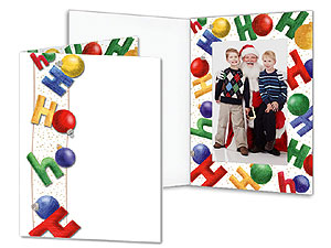 HoHoHo 4x6 Event Photo Folders (25 Pack)