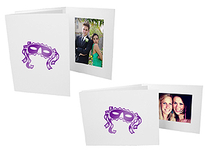 Mardi Gras Mask 4x6 Event Photo Folders (25 Pack)