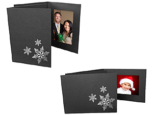 Snowflake Holiday Photo Folders For 4x6 (25 Pack)