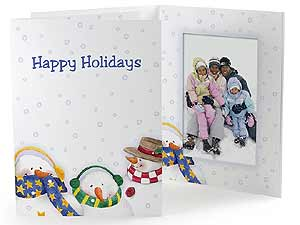 Snowmen Holiday Photo Folders For 4x6 (25 Pack)