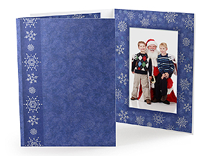 Snowflakes Holiday Photo Folders For 4x6 (25 Pack)