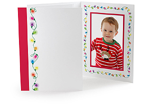 Holiday Light Strings 4x6 Event Photo Folders (25 Pack)