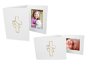 Dove and Cross Photo Folders For 4x6 (25 Pack)