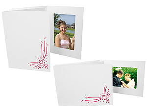 Red Valentine Hearts Event Photo Folders For 5x7 (25 Pack)