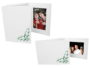 Holly Christmas Photo Folders For 4x6 (25 Pack)