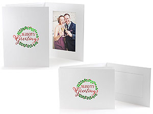 Season's Greetings Wreath Photo Folders For 4x6 (25 Pack)