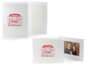 Festive Bright Christmas Photo Folders For 4x6 25 Pack