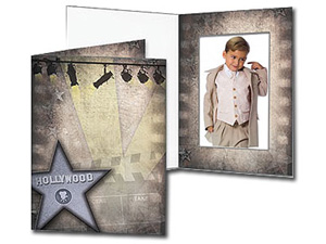 Hollywood Theme 5x7 Vertical Event Folders (25 Pack)