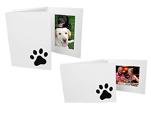 Paw Print 4x6 Event Photo Folders (25 Pack)