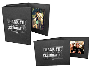Thank You For Celebrating 4x6 Event Photo Folders 25 Pack