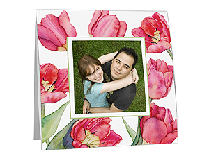 Tulips Polaroid Easel Picture Frames (25 Pack)