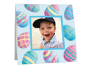 Easter Egg Border Polaroid Easel Frames (25 Pack)