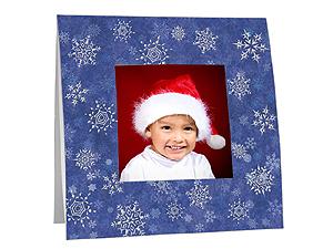 Snowflakes Polaroid Easel Frames (25 Pack)