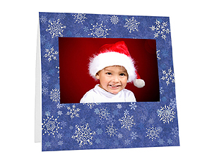Snowflakes Instax Paper Easel Frames (25 Pack)