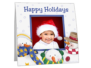 Snowmen Polaroid Easel Frames (25 Pack)