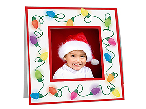 Christmas Lights Polaroid Easel Frames (25 Pack)
