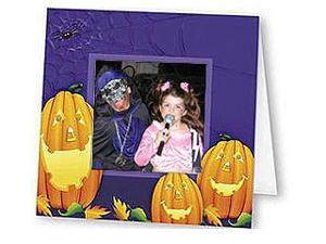 Halloween Pumpkins Polaroid Easel Frames (25 Pack)