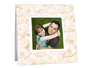 Antique Cream Roses Polaroid Easel Frames (25 Pack)
