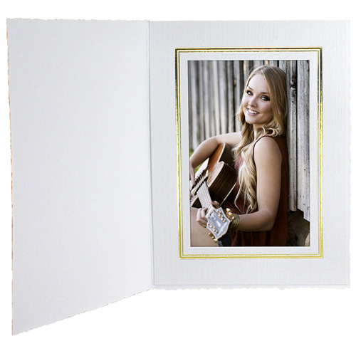 Cardboard Photo Folders W Foil Border
