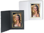 Cardboard Photo Folders w/Foil Border 6x8 Vertical (25 Pack)