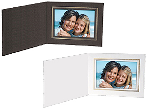 Cardboard Photo Folders w/Foil Border 6x4 Horiz (25 Pack)