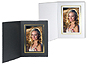 Cardboard Photo Folders w/Foil Border 5x7 Vertical (25 Pack)